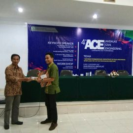 Dosen Teknik Sipil Raih BEST PRESENTER Pada 4th ACE National Conference